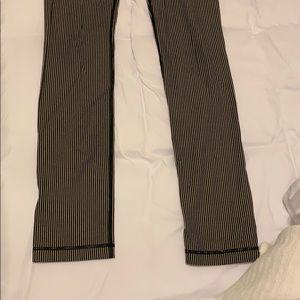 lululemon athletica Pants - LULULEMOM Striped Pant Leggings Size 6